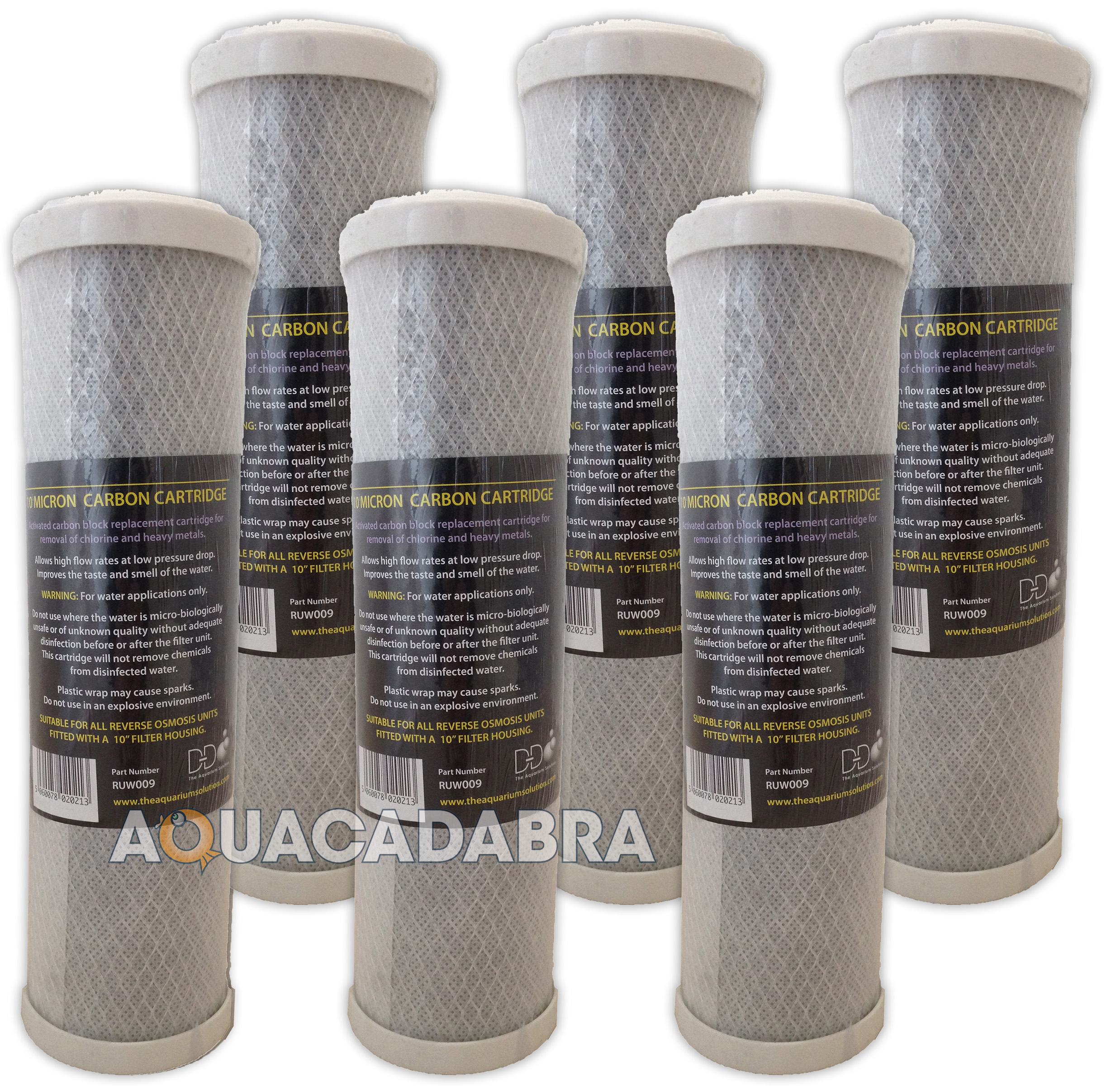 6 x 10 carbon water purifier filter cartridges koi pond for Charcoal pond filter