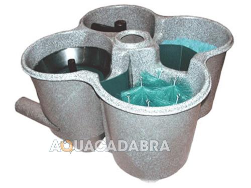 Cloverleaf cl3 professional pond filter system koi for Goldfish pond filter