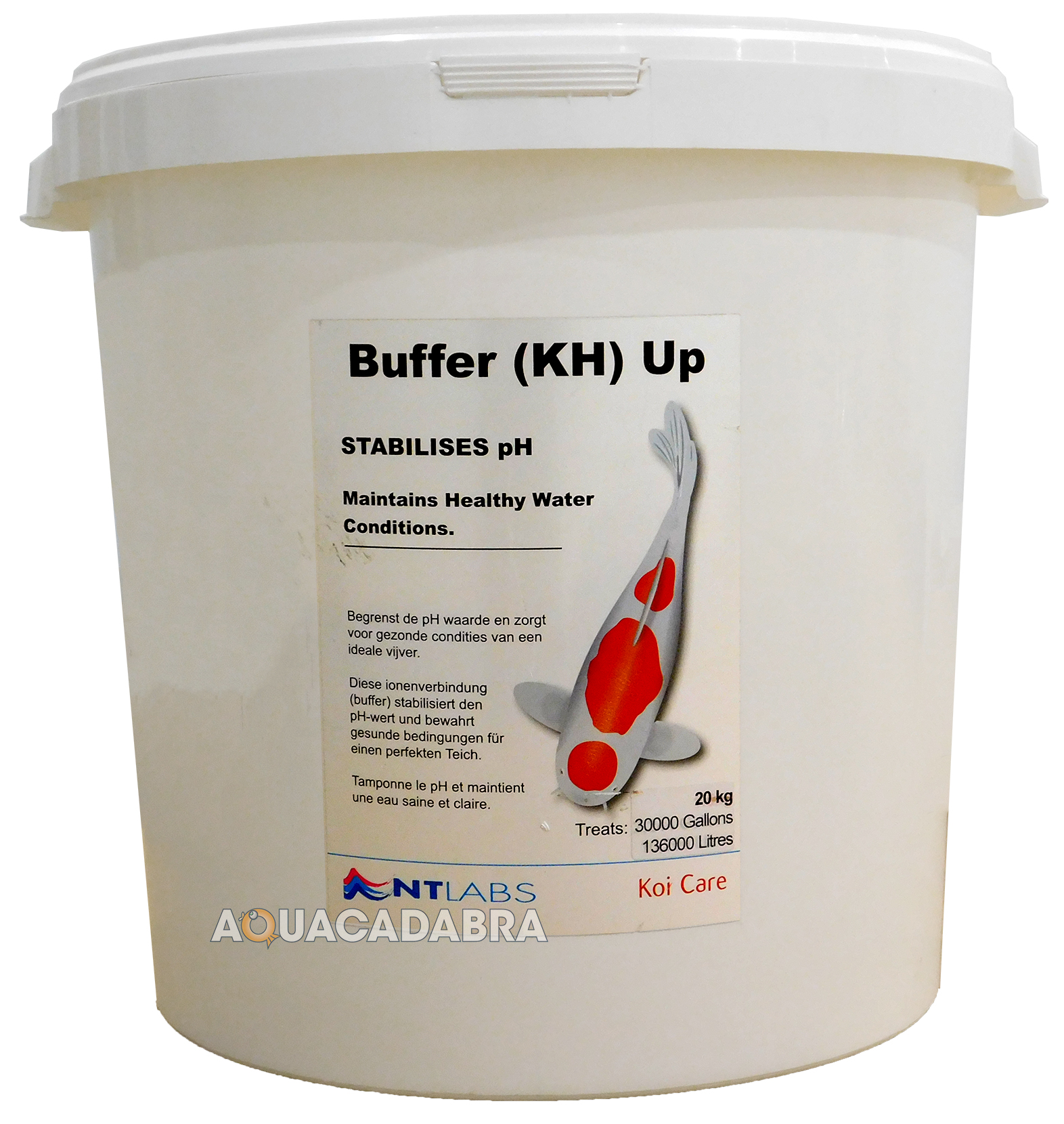 Nt labs buffer kh up 1 5kg 5kg 20kg increase koi pond for Koi pond water quality levels