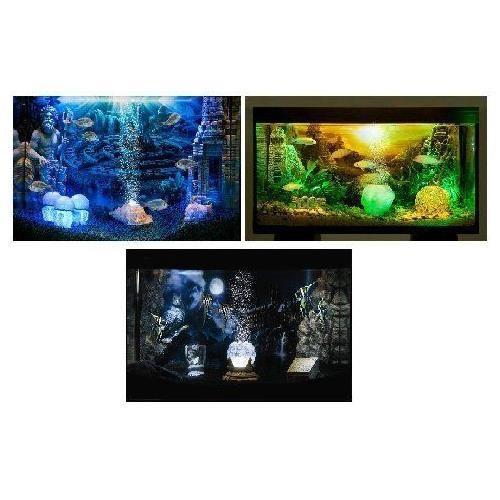 Hydor h2show aquarium background atlantis scene fish tank for Fish tank glue