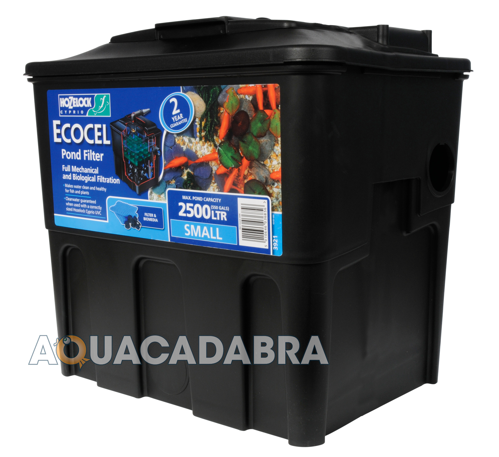 Hozelock ecocel 2500 pond filter replaces the 2200 for Garden fish pond filters