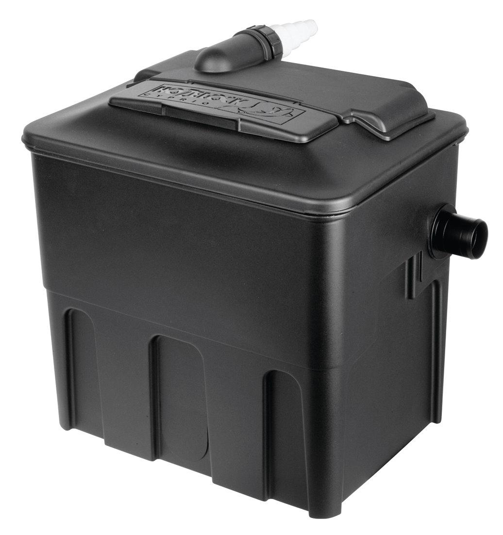 Hozelock ecocel pond filter fish gravity media box system for Used koi pond filters