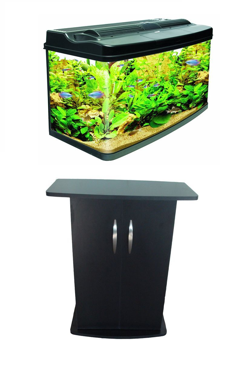 interpet fish pod 120 litre aquarium tank complete set up. Black Bedroom Furniture Sets. Home Design Ideas