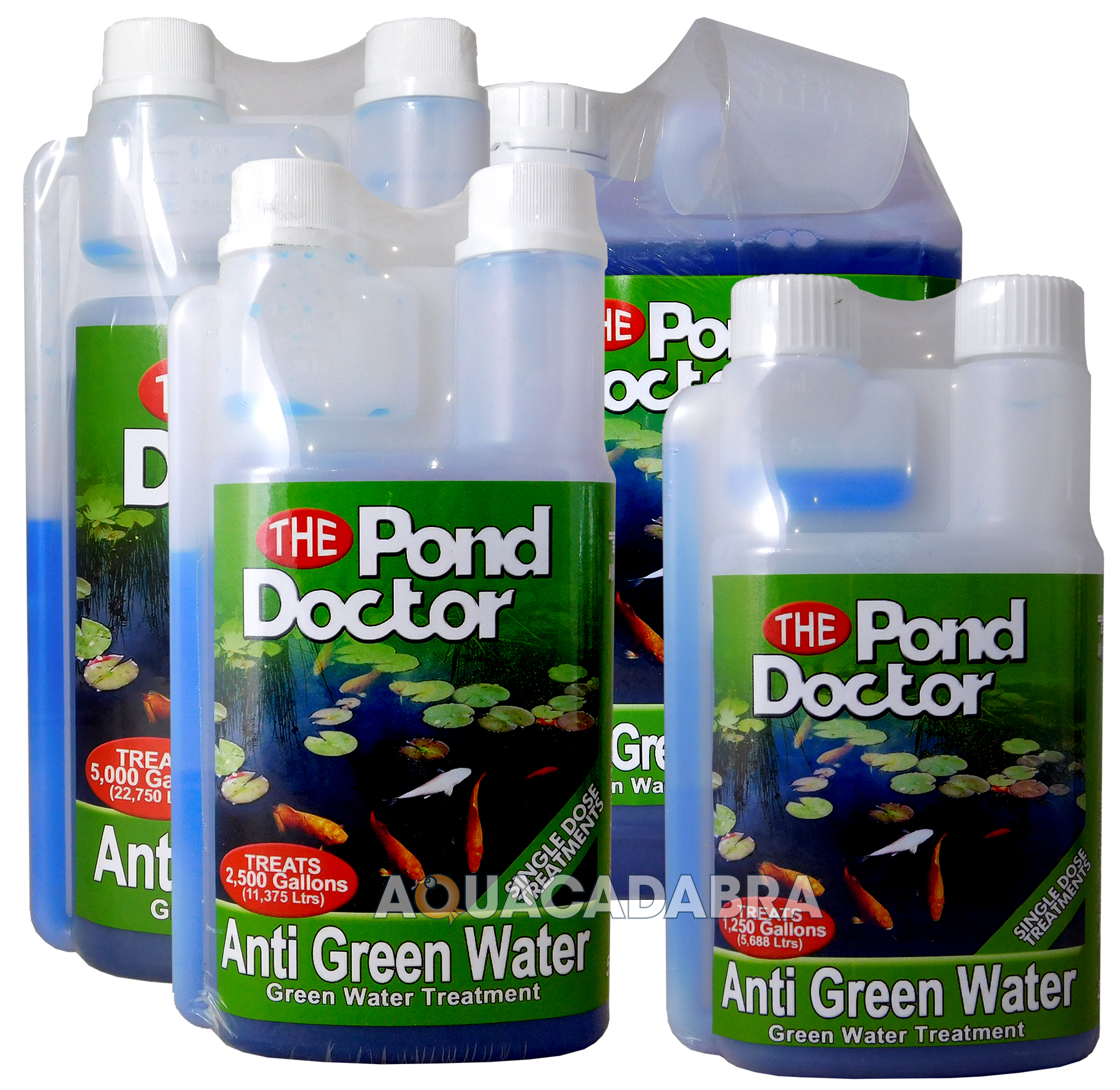 Tap pond doctor anti green water algae treatment garden for Green water in pond