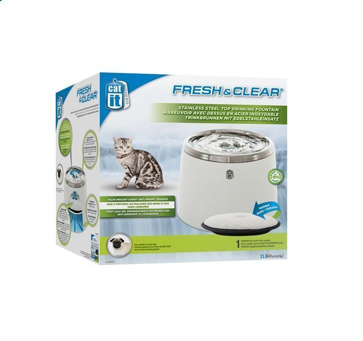 how to clean cat water fountain
