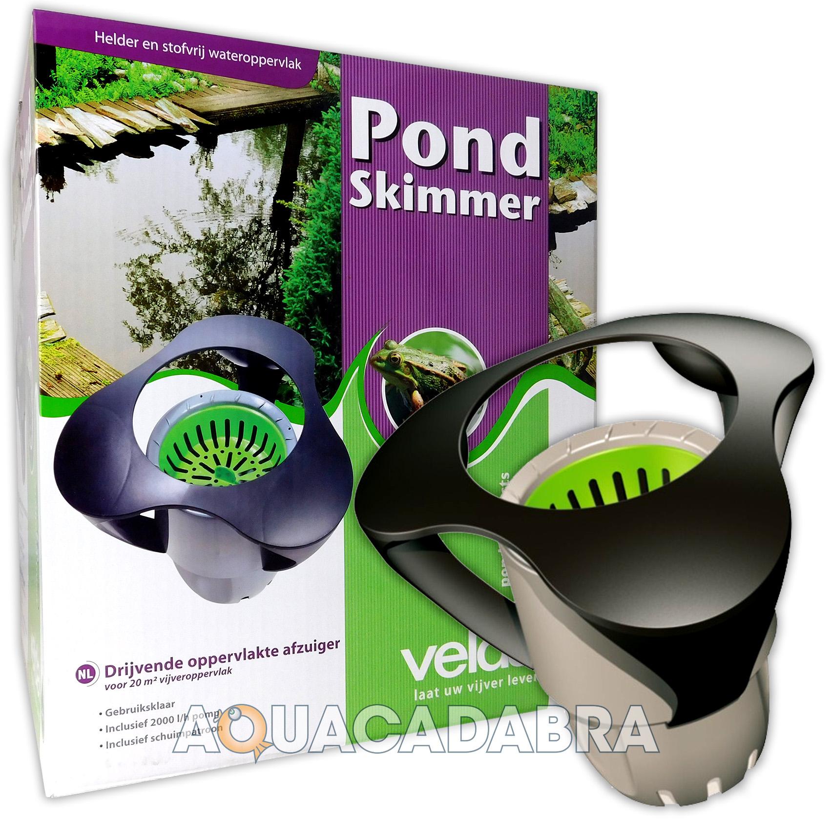 Velda pond surface skimmer built in pump floating clean for Pond skimmer