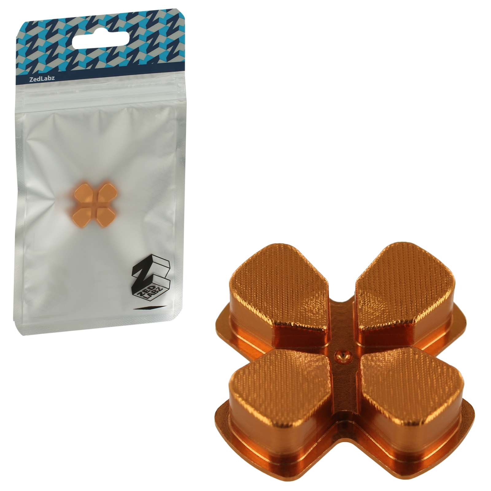 Zedlabz Aluminium Alloy Metal Directional D Pad Arrow Button For Sony Ps4 Controllers - Gold