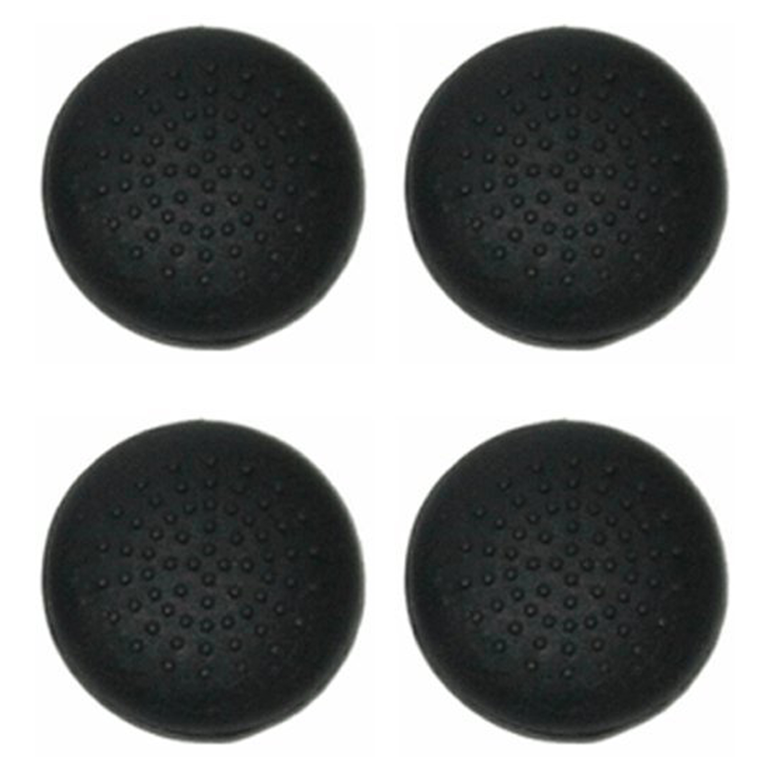 Zedlabz Dotted Convex Silicone Thumb Grips For Sony Ps4 Controllers Thumb Stick Caps - 4 Pack Black