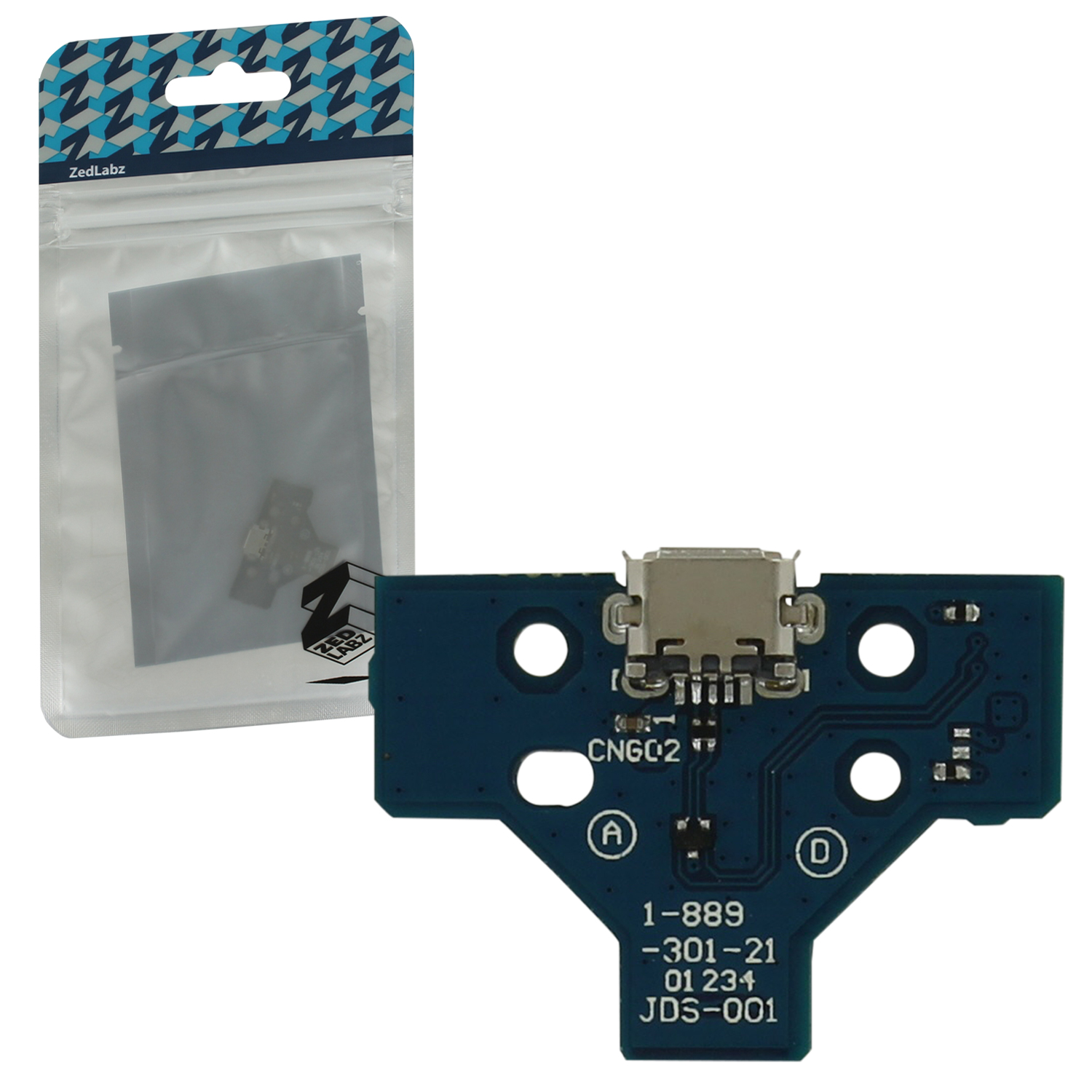 Zedlabz 14 Pin V1 Micro Usb Charging Socket Ic Board For Sony Ps4 Controllers Jds-001