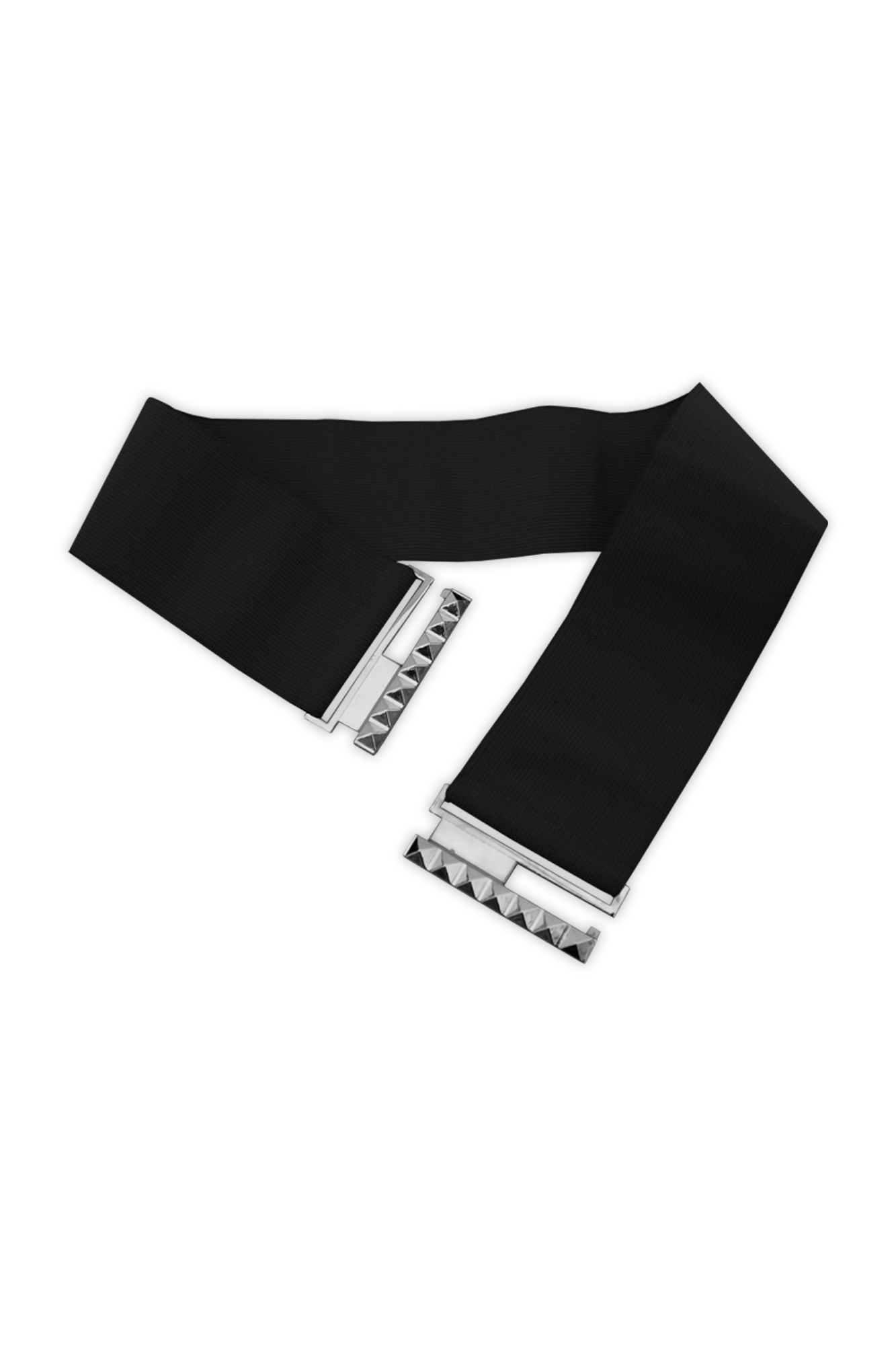 NEW BLACK RED WHITE 3 INCH WIDE ELASTIC WAIST BELT SIZE 6-32