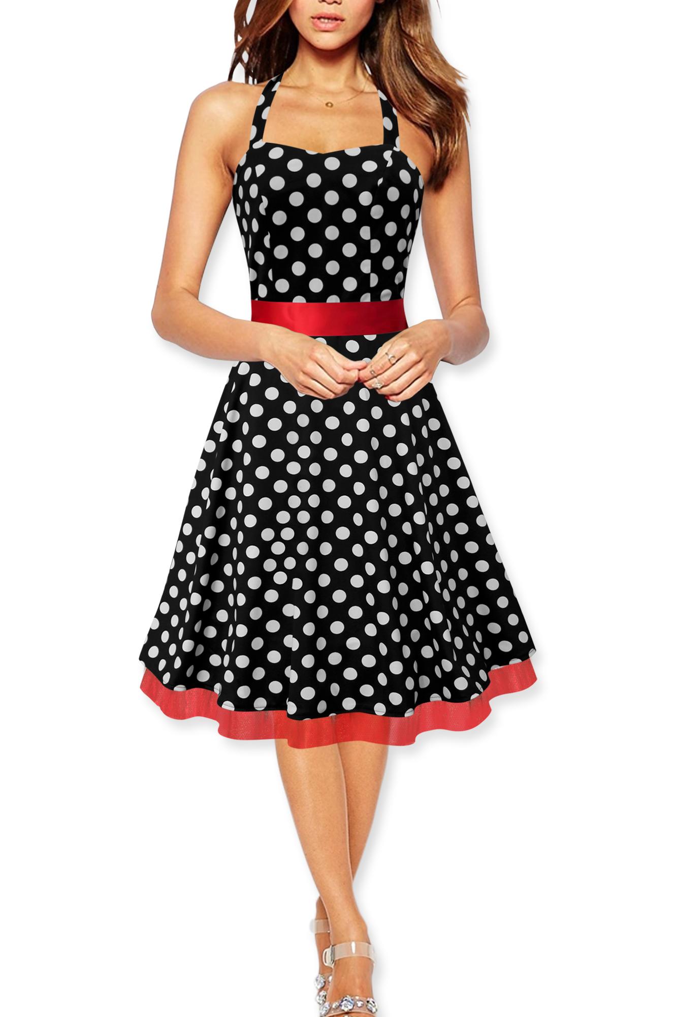 39 rhya 39 vintage polka dot rockabilly 1950 39 s swing pin up. Black Bedroom Furniture Sets. Home Design Ideas