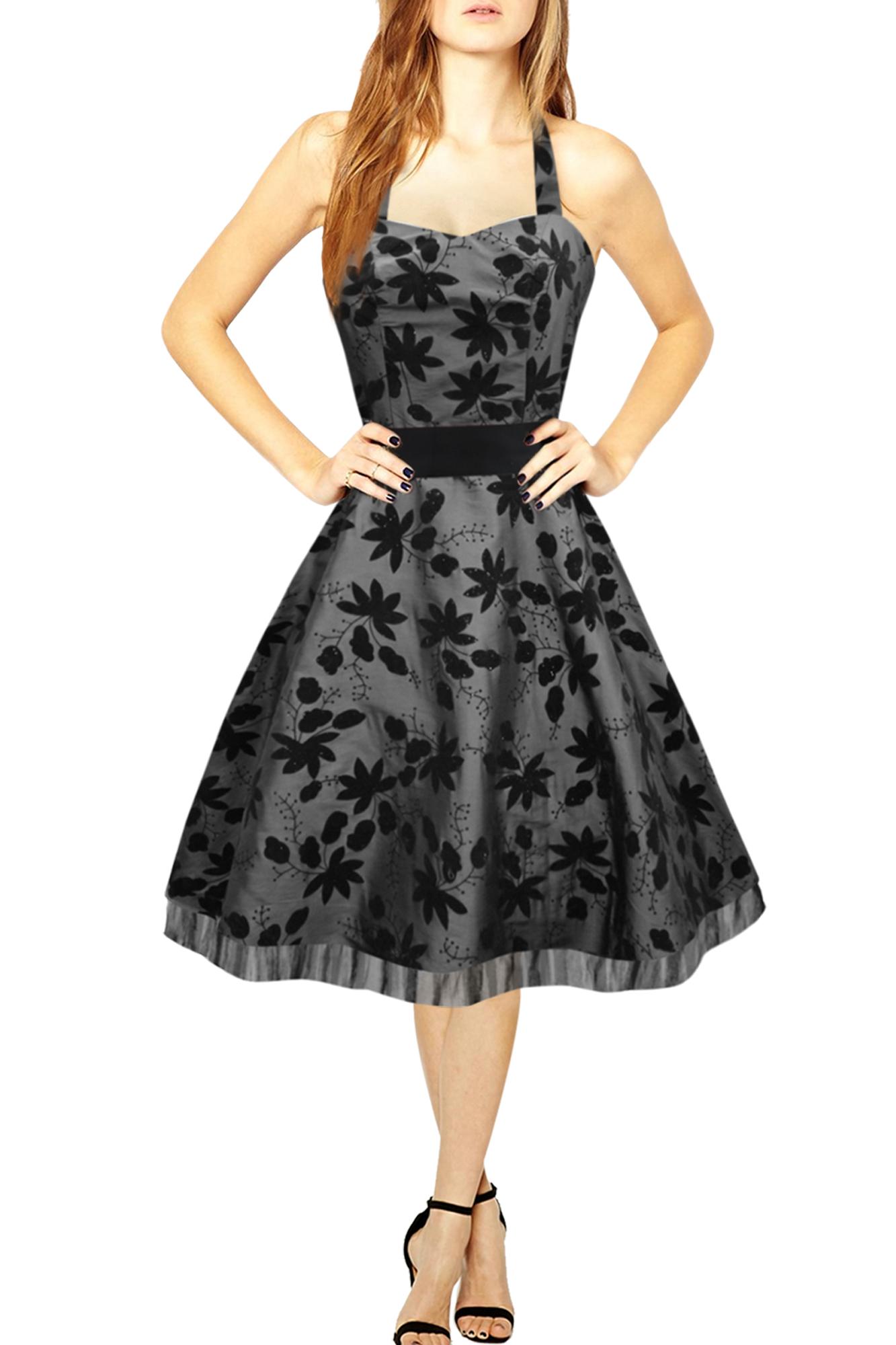 Maisy-Satin-Essence-50s-60s-Rockabilly-Vintage-Bridesmaid-Prom-Evening-Dress