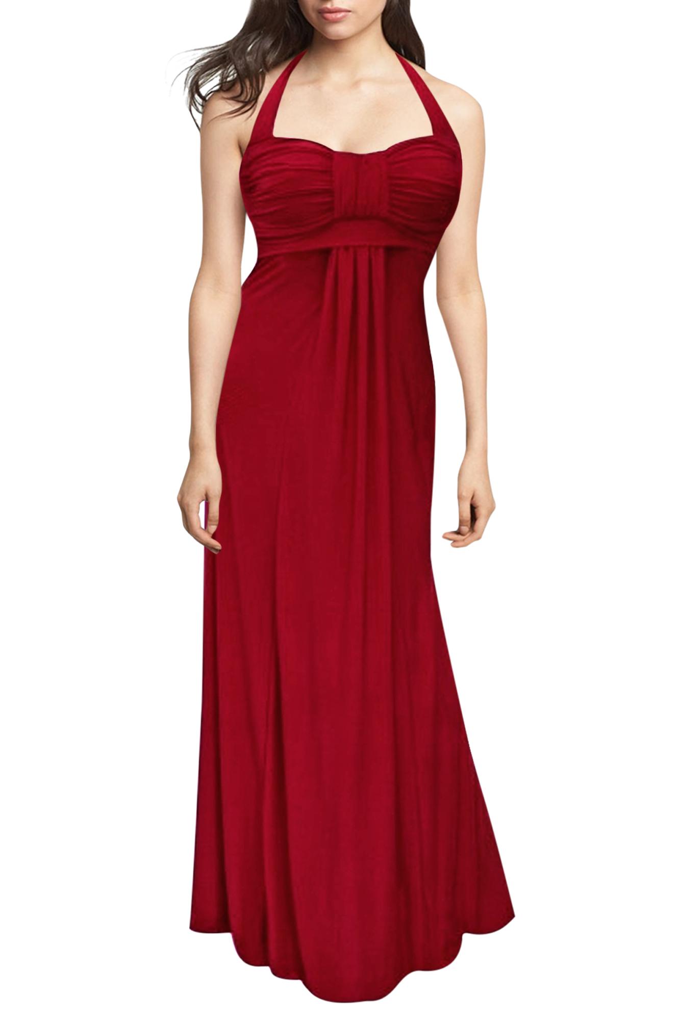 Long Elegant Wedding Evening Prom Maxi Dress Size 12 24