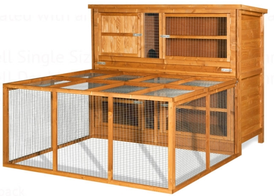 New large chartwell wooden rabbit guinea pig hutch cage for Wooden guinea pig cage