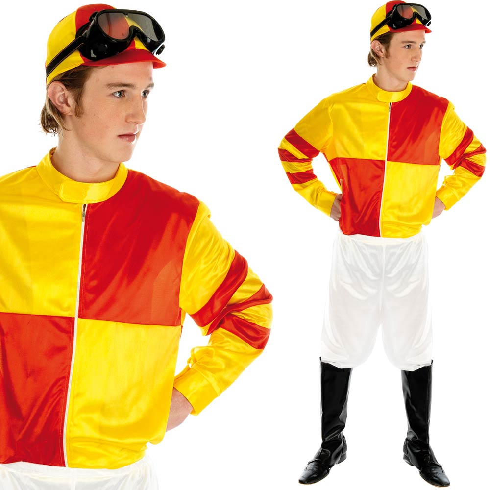 Mens Jockey Fancy Dress Costume - Sports Racing / Stag / Comedy Sport Outfit | eBay