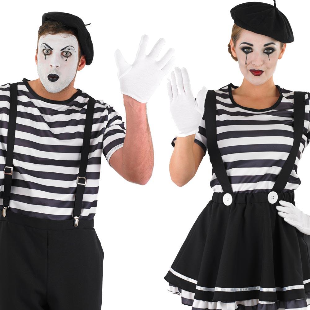 le mime costume hommes femmes cirque mime d guisement. Black Bedroom Furniture Sets. Home Design Ideas