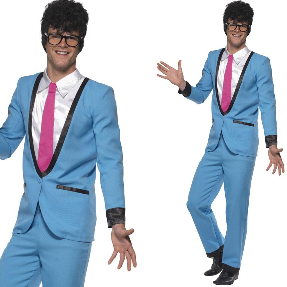 Image is loading Mens-1950s-Teddy-Boy-Fancy-Dress-Costume-50s- - Mens 1950s Teddy Boy Fancy Dress Costume - 50s Rock N Roll Suit