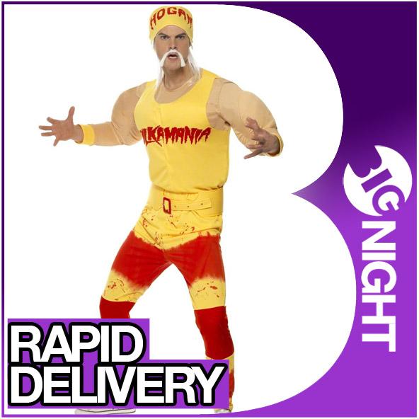 kost m herren hulk hogan verkleidung offiziell wrestler 80er 90er sport outfit ebay. Black Bedroom Furniture Sets. Home Design Ideas