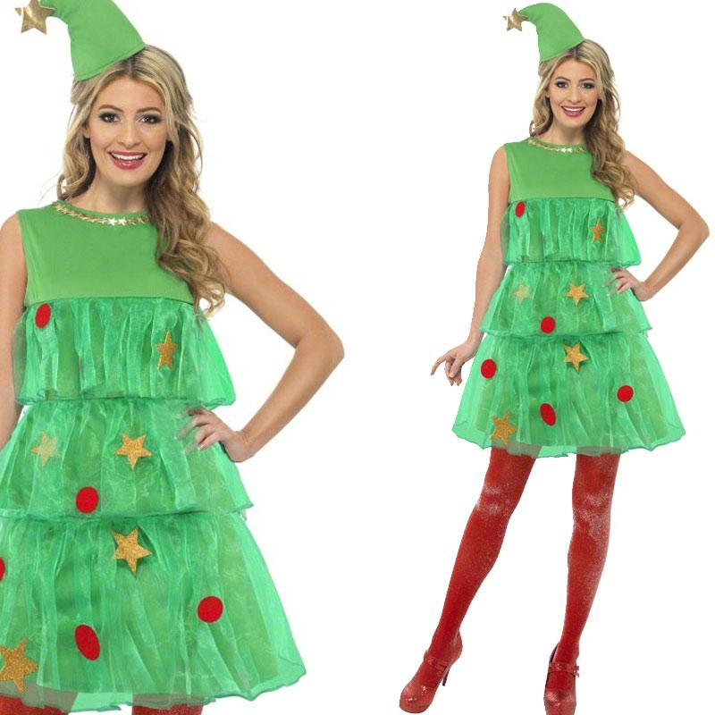 damen weihnachtsbaum tutu weihnachtskost m mit hut tutu kleid ebay. Black Bedroom Furniture Sets. Home Design Ideas