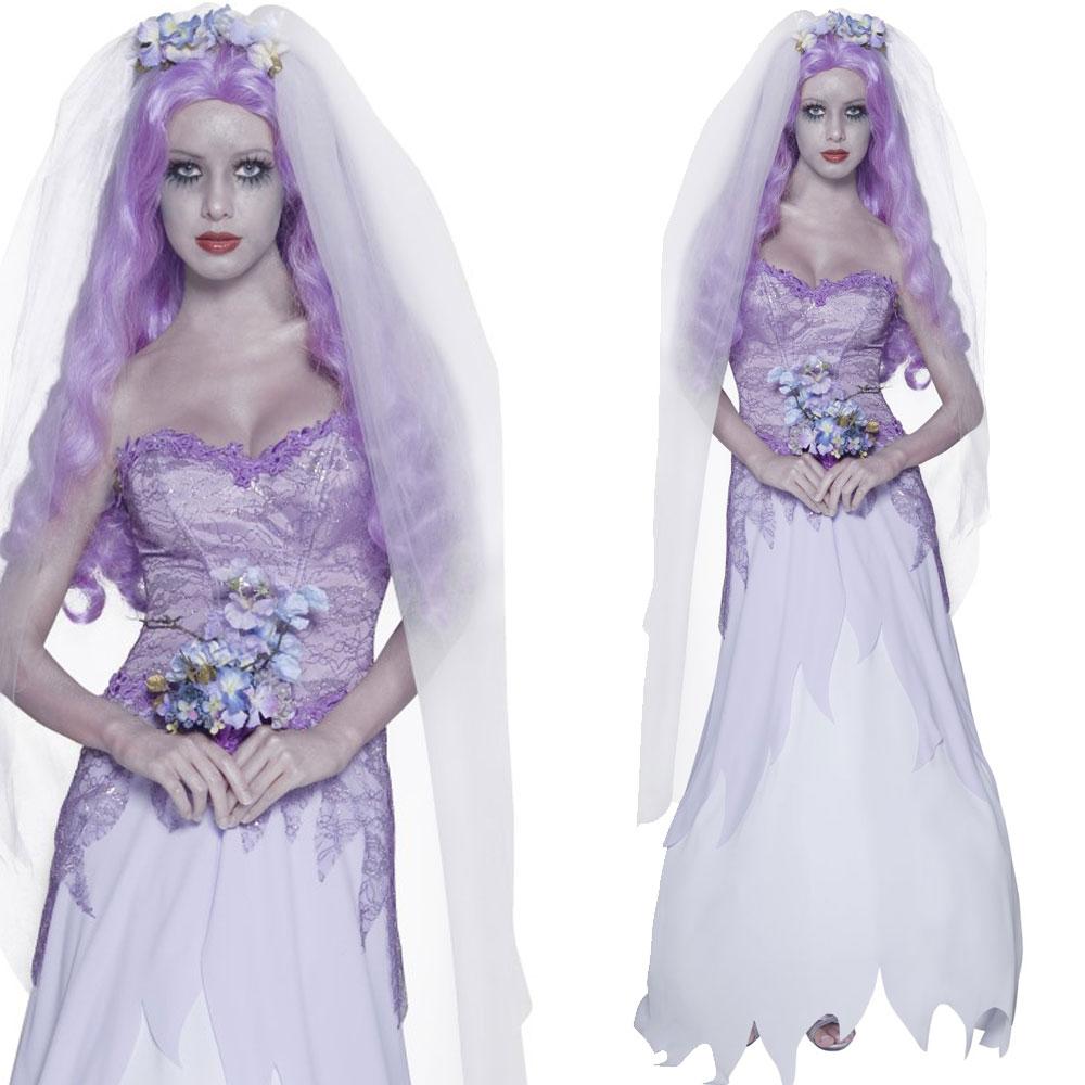 corpse bride wedding dress Corpse Bride Costume Corpse Groom Halloween Zombie Ghost