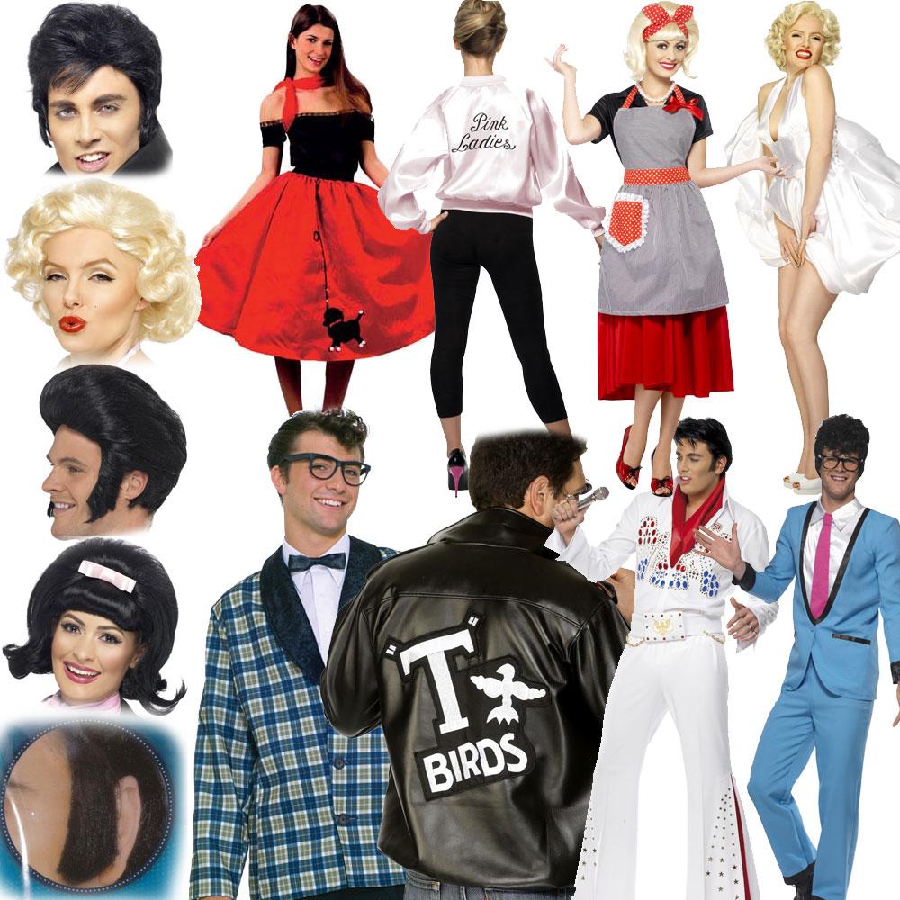 Mens Womens 1950s Fancy Dress