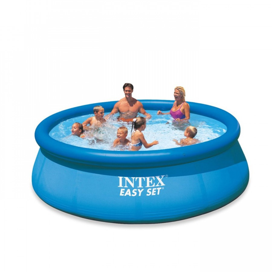 intex easy set inflatable pvc round kids swimming paddling. Black Bedroom Furniture Sets. Home Design Ideas