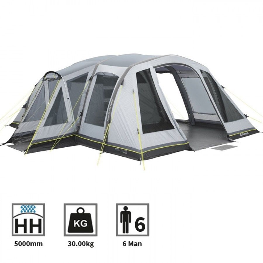 Outwell Montana 6ac 6 Man Person Camping Tunnel Tent Ebay