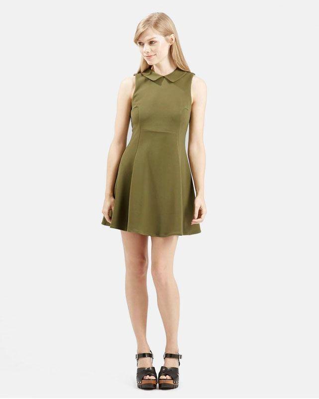 Topshop Collared Skater Dress Alice In Wonderland Ladies NEW