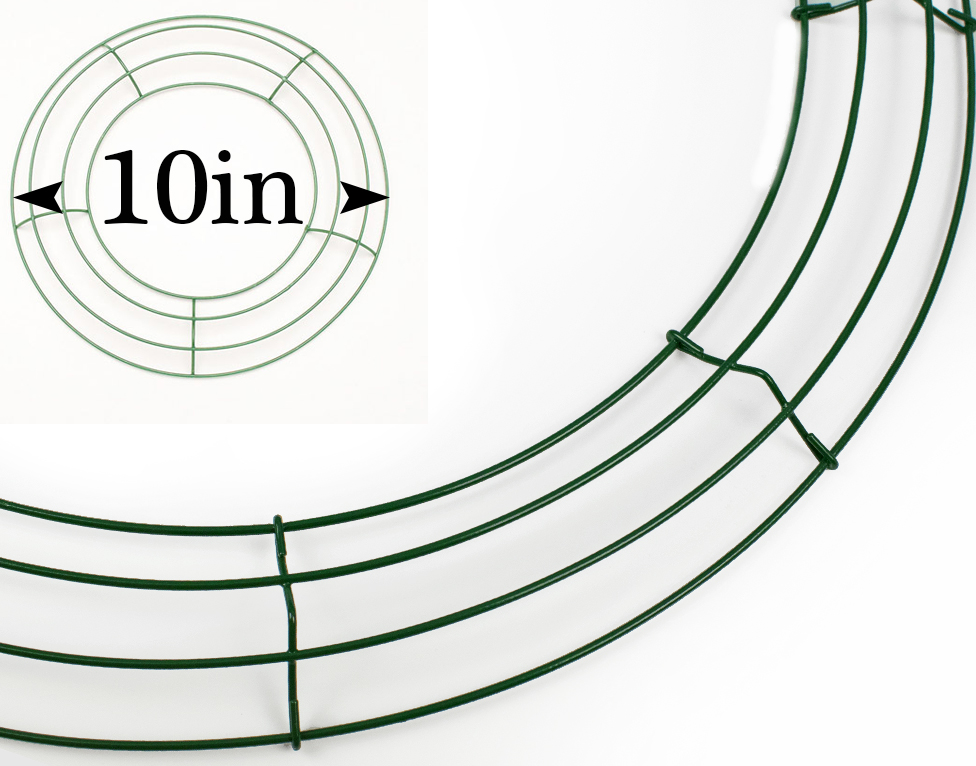 Best Quality Green Metal Wreath Making Form Frame for Crafts
