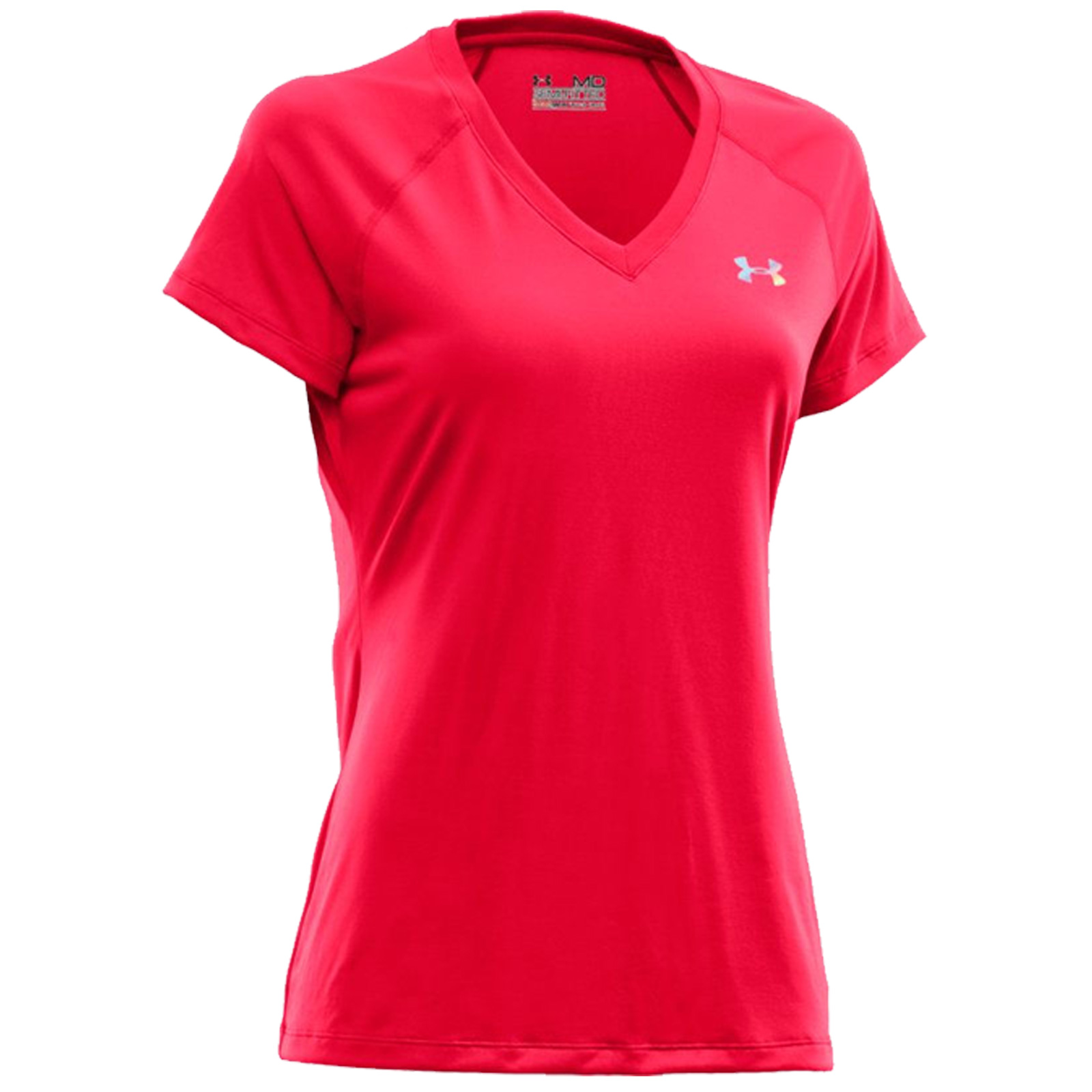 2015 Under Armour Ladies Tech V Neck T Shirt New Womens