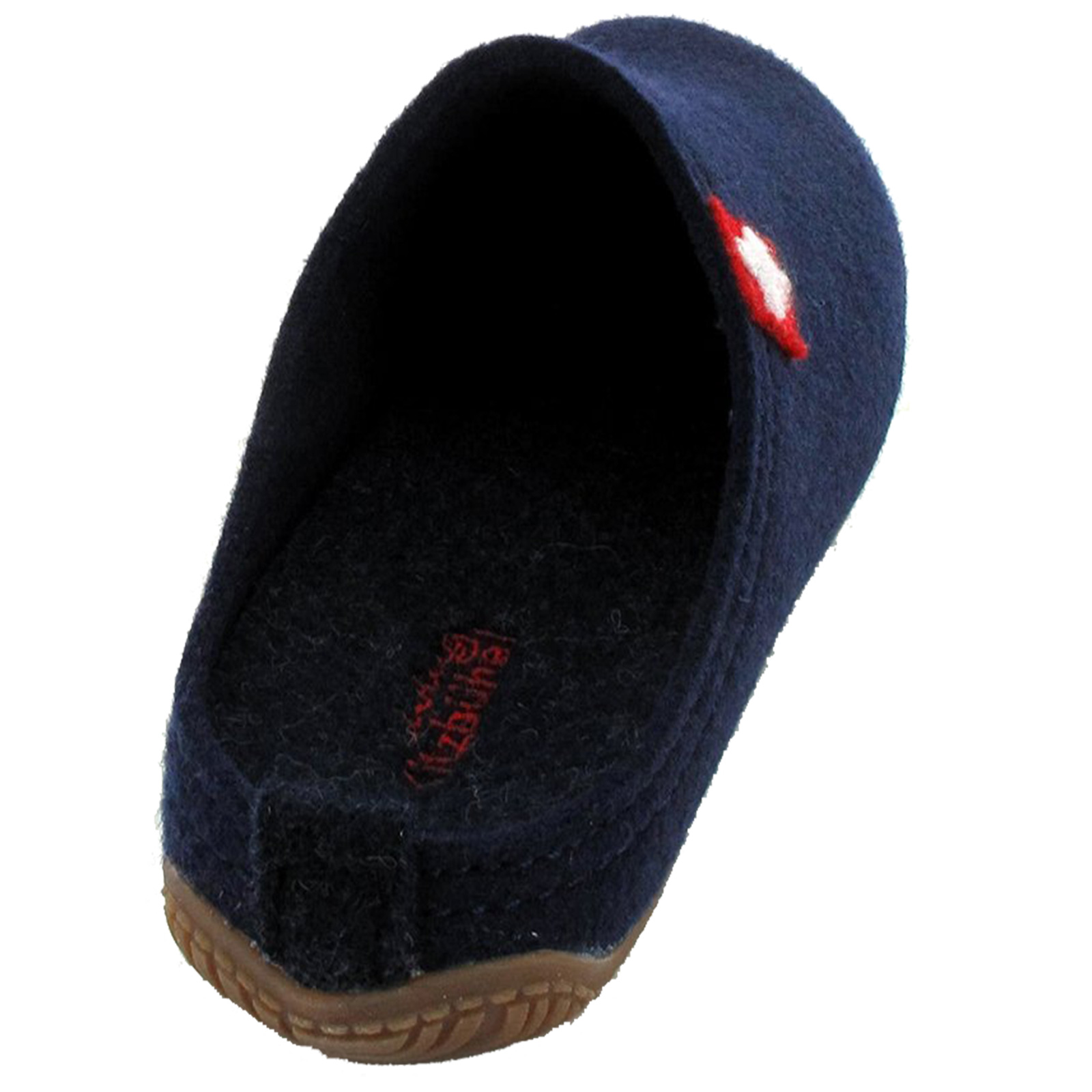 Living Kitzbuhel Ladies Swiss Cross Slippers Lightweight Rubber Sole Wool Warm