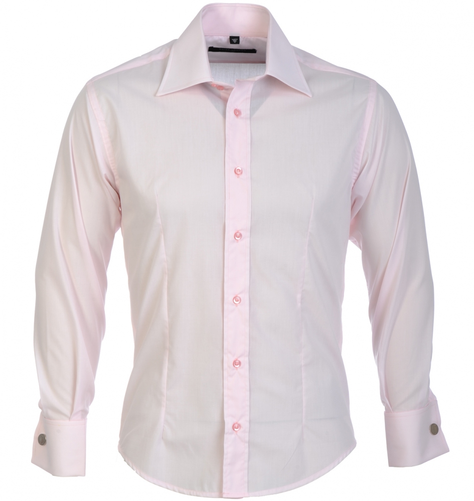 GUIDE-LONDON-Men-039-s-Shirt-Dress-Casual-Formal-Slim-Fit-Classic-Double-Cuff-Top