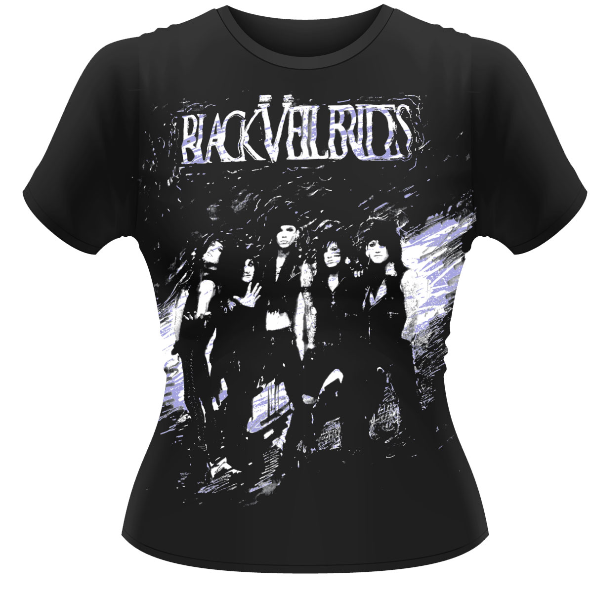 Black-Veil-Brides-Sloppy-Copy-Womens-Fitted-T-Shirt-NEW-OFFICIAL
