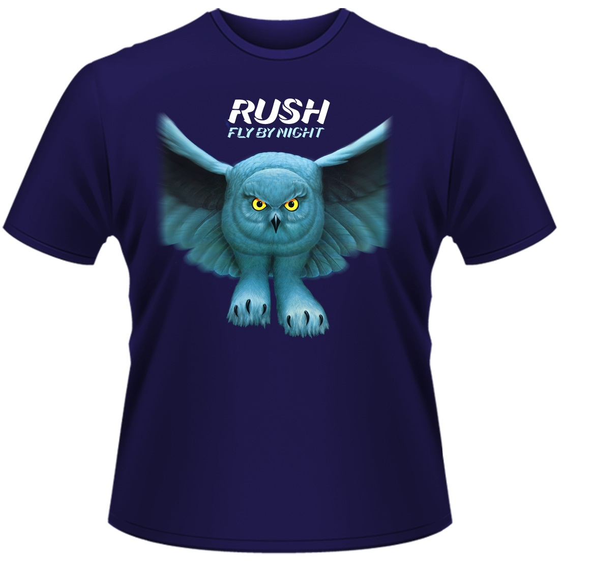 Rush-Fly-By-Night-T-Shirt-Blue-NEW-OFFICIAL
