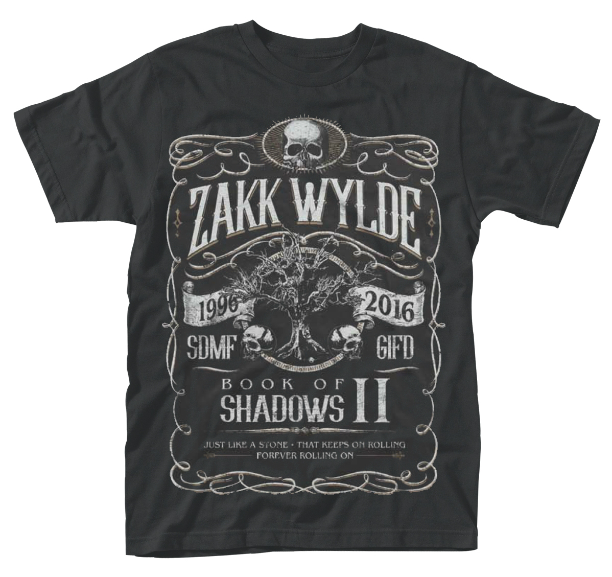 Zakk wylde 39 book of shadows ii 39 t shirt new official for Entire book on shirt
