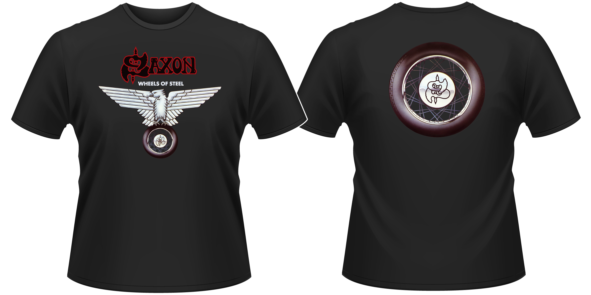 Saxon-Wheels-Of-Steel-T-Shirt-NEW-OFFICIAL