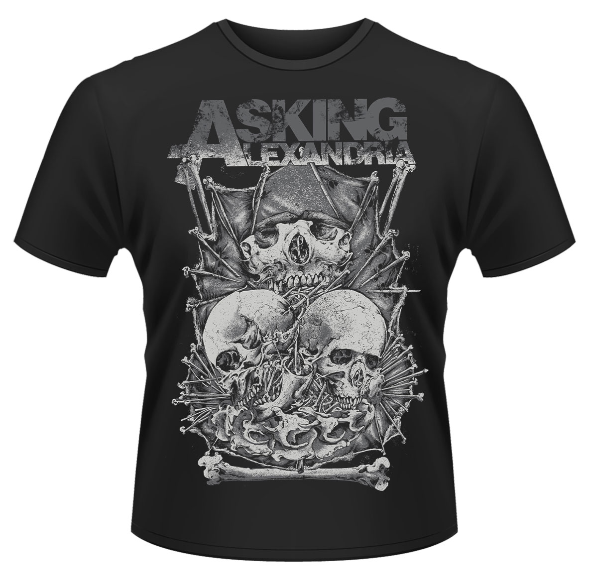 Asking-Alexandria-Skull-Stack-T-Shirt-NEW-OFFICIAL