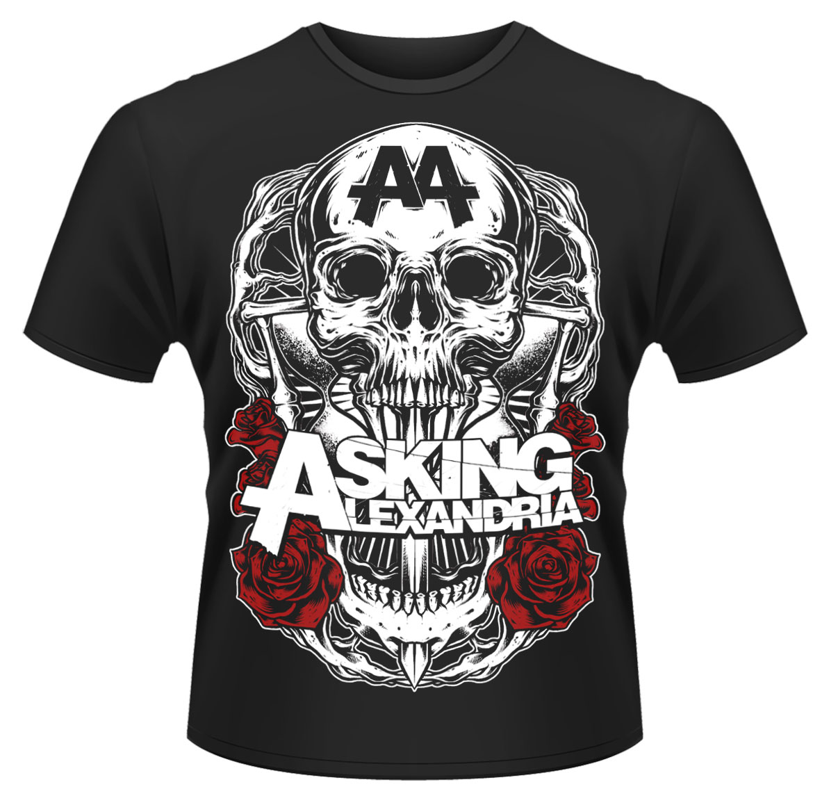 Asking-Alexandria-Black-Shadow-T-Shirt-NEW-OFFICIAL