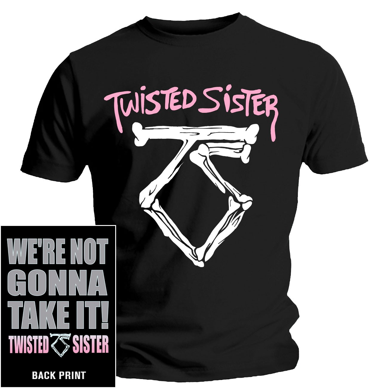 twisted sister 39 we 39 re not gonna take it 39 t shirt new. Black Bedroom Furniture Sets. Home Design Ideas