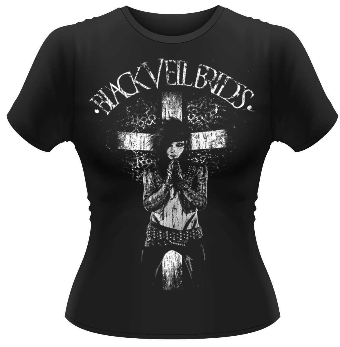 Black-Veil-Brides-All-Your-Sins-2-Womens-Fitted-T-Shirt-NEW-OFFICIAL