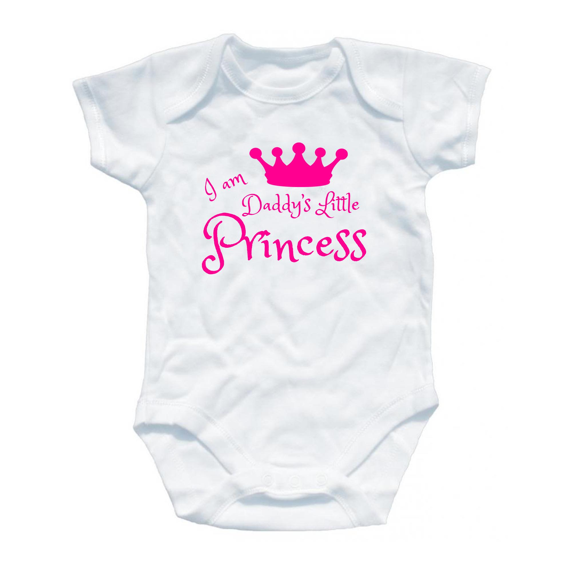 Daddy s Princess Baby Grow Funny Gift Present Boys Girls esie All
