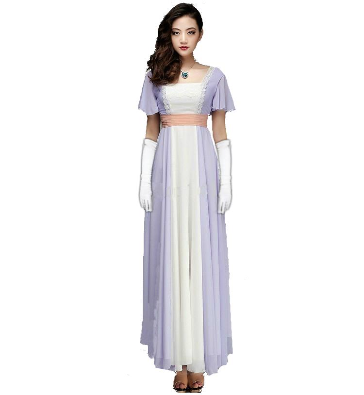 Ladies,Rose,90,039,s,Costume,Titanic,Dress,