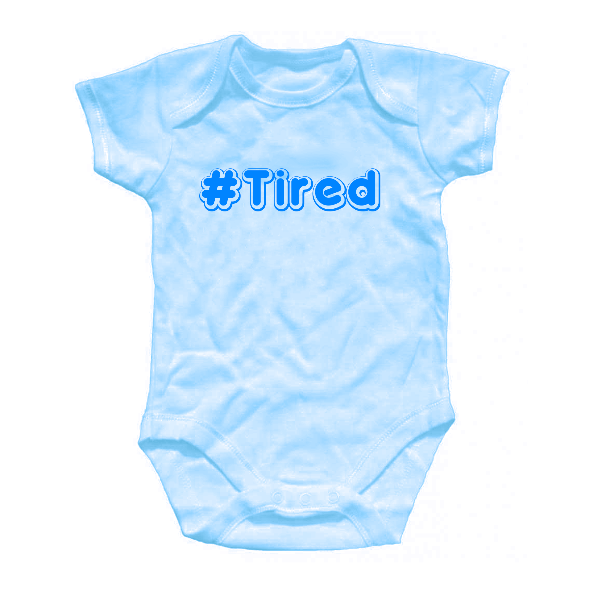Personalised Tired Baby Grow Shower Gift Onesie All in One Blue Pink ...
