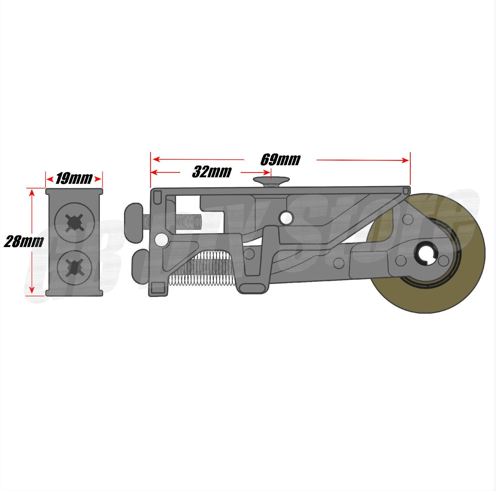 Pair Of SRZ S Patio Door Steel Rollers 32mm Wheels Sliding