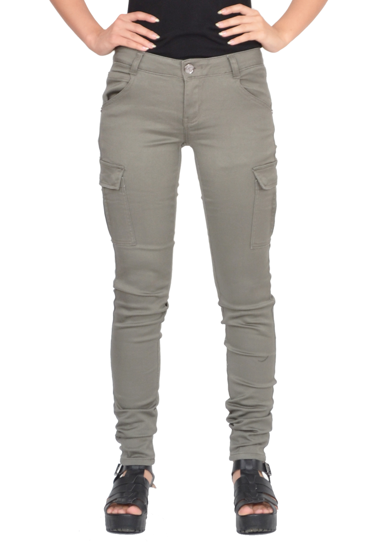 Brilliant Bebe Zipper Cargo Skinny Pant In Green Loden Green  Lyst