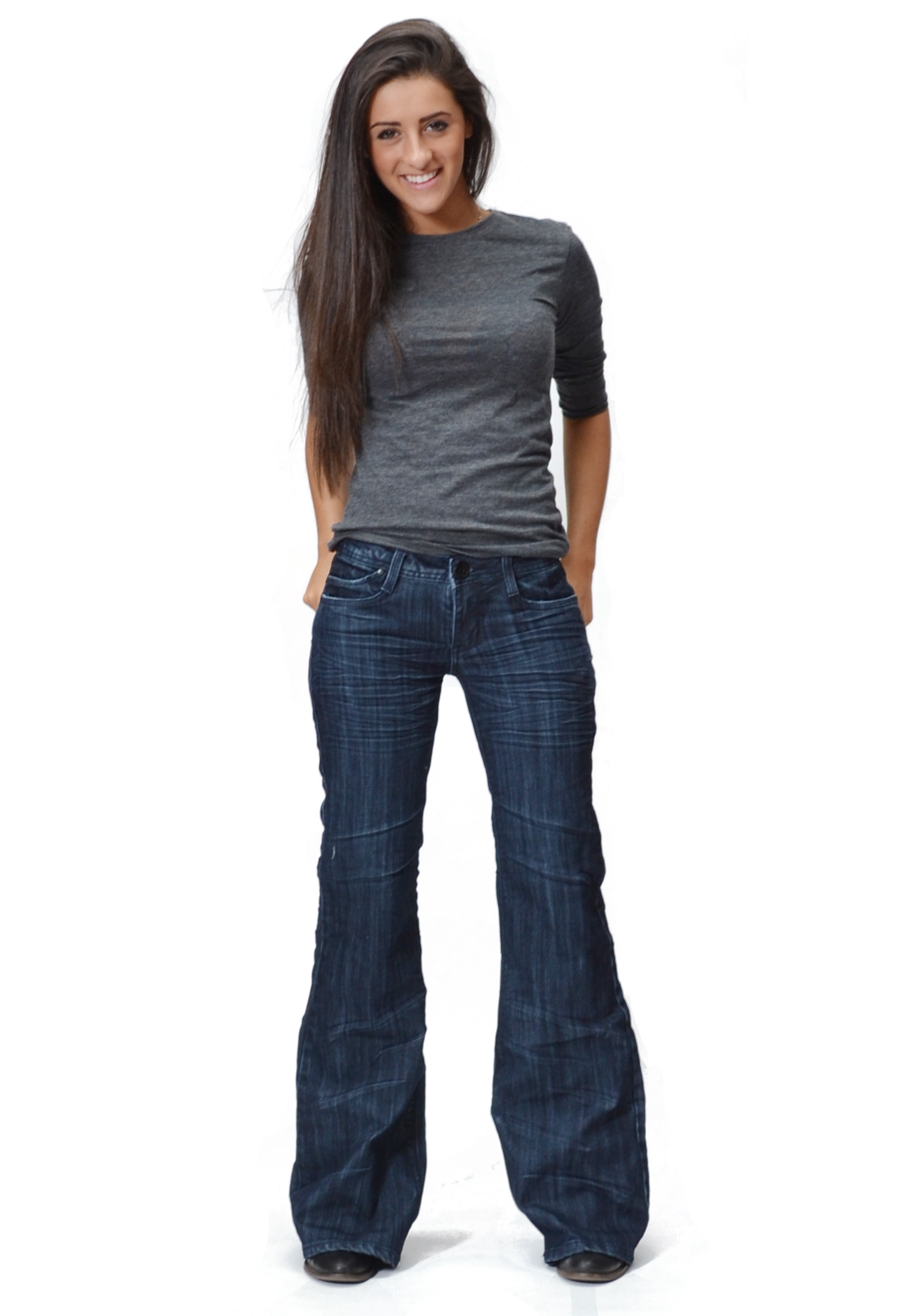 Our women's flare jeans are a modern take on the infamous 70's bell bottoms look. Our collection consists of ripped jeans, white jeans, and more, all in the flared .