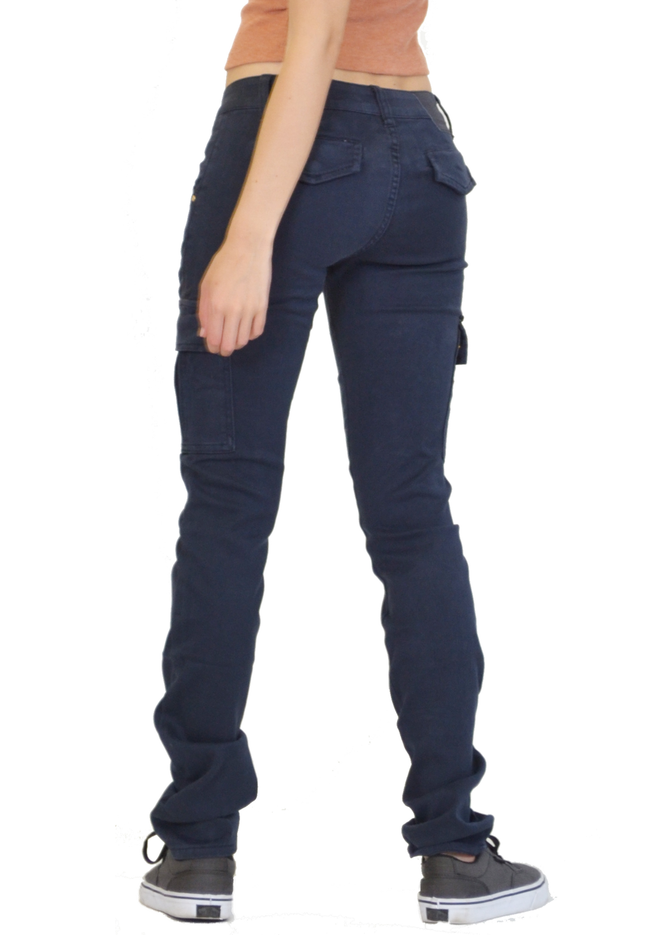 Luxury New Womens Ladies Slim Skinny Fitted Combat Pants Cargo Trousers Jeans