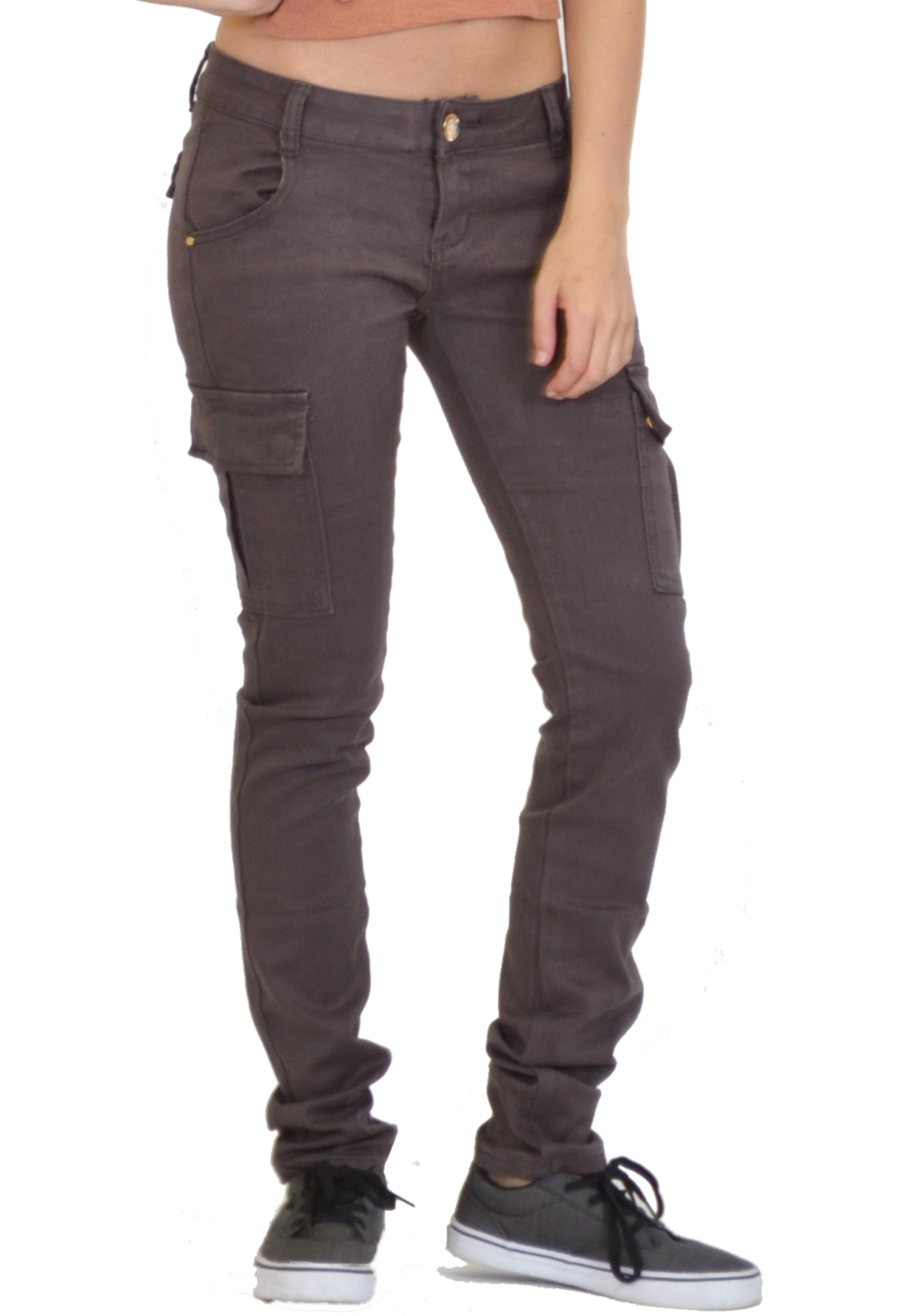 Beautiful New Ladies Womens Slim Skinny Fitted Stretch Combat Jeans Cargo Pants