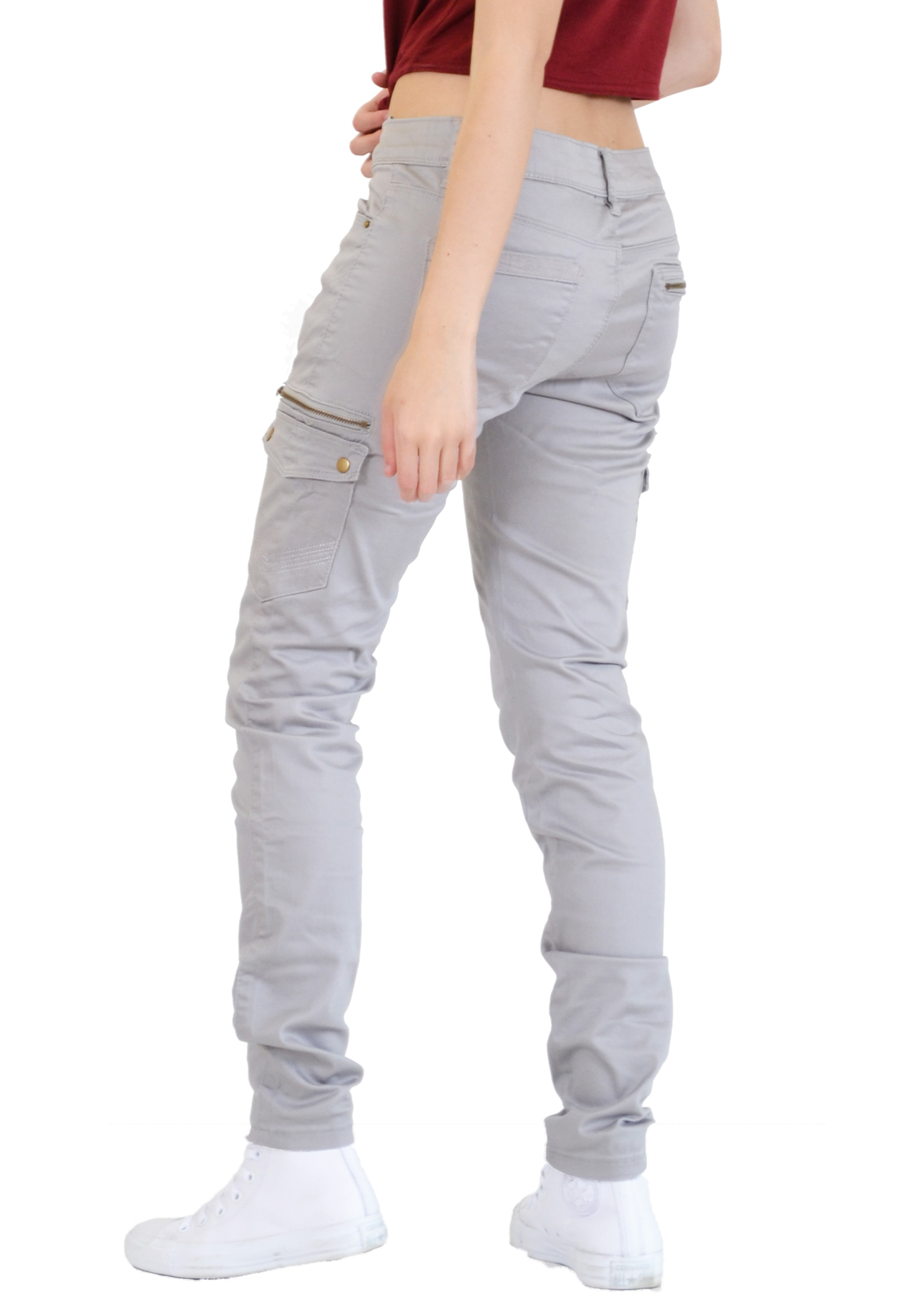 Simple  Fitted Cargo Pant  Clothing  Women39s Clothing  Women39s Pants