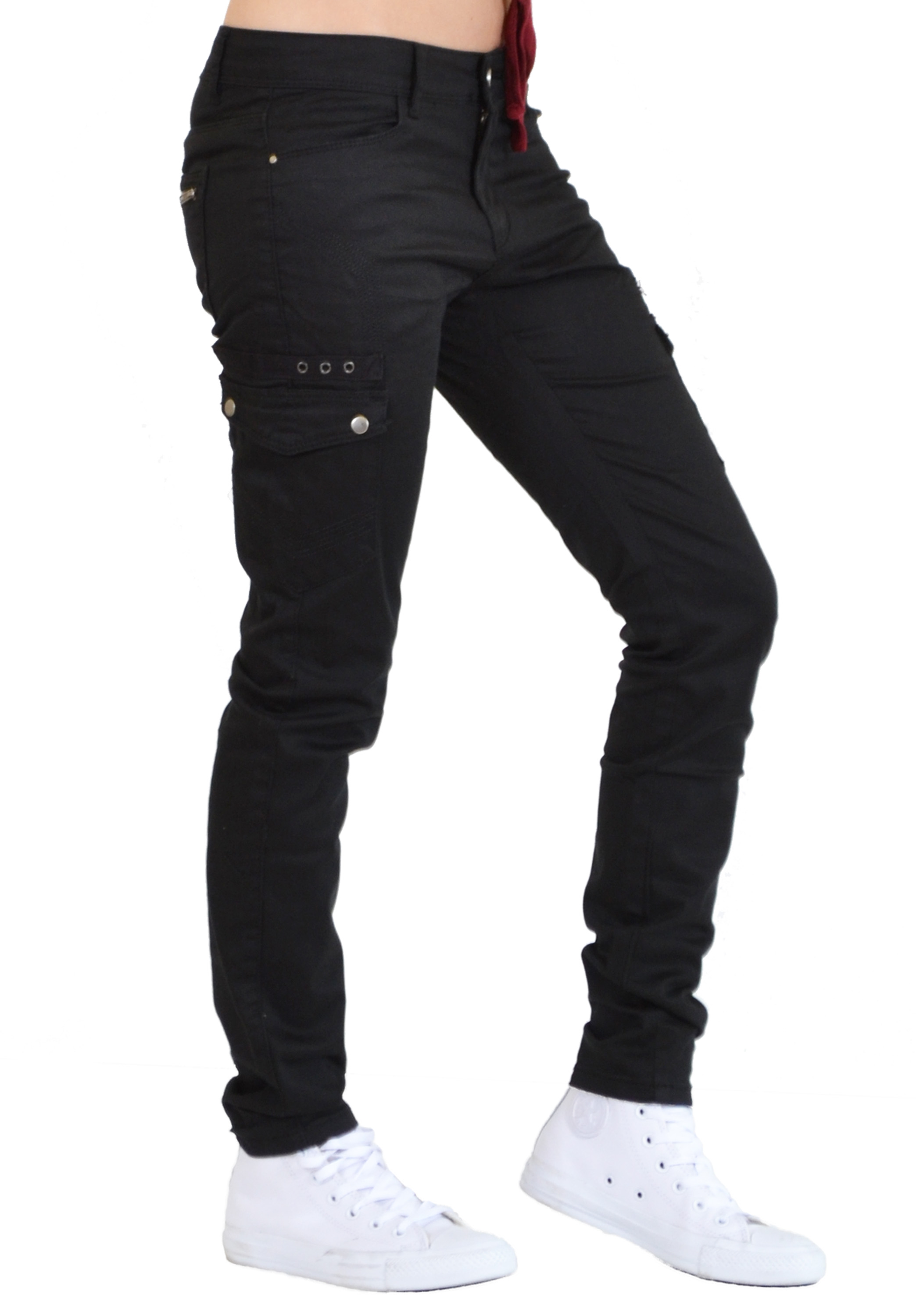 Amazing New Ladies Womens Grey Slim Fitted Combat Pants Skinny Cargo Trousers